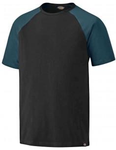 T-Shirt NOIR/TEAL avec...